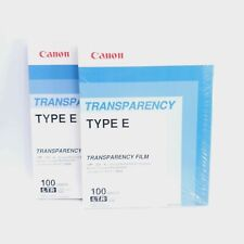 2x New Canon Transparency Film Type E Item NO 6101AJ28AA Lot of 2 Fast Shipping