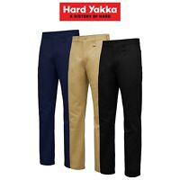 Mens Hard Yakka Core Basic Stretch Cotton Drill Work Pants Construction Y02596