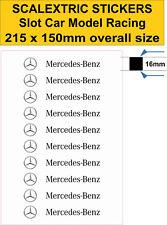 Slot car Scalextric sticker Model track Mercedes Benz Logo self adhesive vinyl16