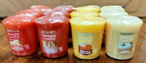 """Lot of 12 Yankee Candle Retired """"AUTUMN"""" MIXED SCENTS Sampler Votives RARE NEW"""
