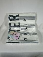 Hollister Gift Exclusive Fringed Blanket With Logo NWT