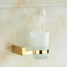 Brass Gold Single Cup Tumbler Holders Toothbrush Holder Bathroom Accessory