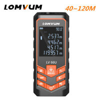 LOMVUM Handheld Laser Distance Meter Measuring Range Electronic Tape Auto Level