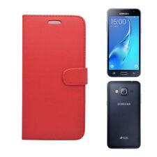 Fundas y carcasas Samsung color principal rojo de piel sintética para teléfonos móviles y PDAs