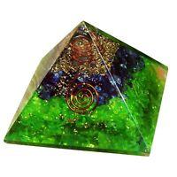 Extra Large 70-75MM Green Peridot Stone Orgorne Natural Gemstone Pyramid Organit