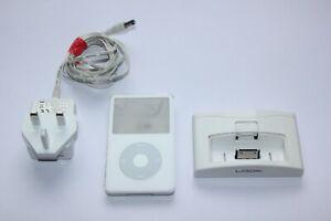 Apple iPod A1136 5th Gen Video White 30Gb plus Charging Dock