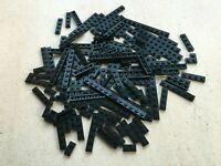 Lego: Lot de 130 plaques noir en vrac 1x10 1x4 1x2 | Mix Black plate Pieces.
