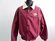 "CARHARTT MENS QUILTED LINED JACKET MAROON SIZE 50"" GOOD/ VERY GOOD SKU WB267"