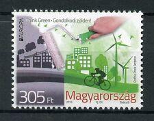 Hungary 2016 MNH Europa Think Green 1v Set Bicycles Windmills Environment Stamps