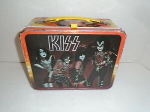 KISS 1977 VINTAGE LUNCHBOX    -   AUCOIN FREHLEY CRISS SIMMONS STANLEY