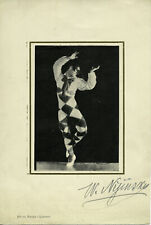 Waslaw NIJINSKY (Dance): Signed Photograph by Adolph de MEYER