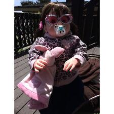 Hot Handmade 28'' Model Reborn Toddler Dolls Baby Lifelike Naked Girl Doll Gifts