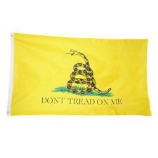 3x5FT Don't Tread On Me Gadsden Polyester Tea Party Snake  Yellow Flag Banner