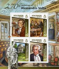 Solomon Islands 2015 MNH Alessandro Volta 270th Anniv 4v M/S Napoleon Galvani