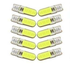 10x Ampoules T10 LED W5W COB 6500K Extra Blanc Veilleuse lampe Lumiere interieur