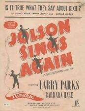 Is It True what They Say About Dixie? - LARRY PARKS - Sheet Music