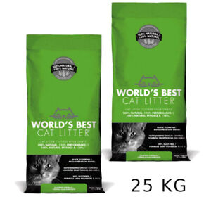 Economy Pack: 2 x 12.7kg World's Best Cat Litter 99% Dust-Free Fast Clumping