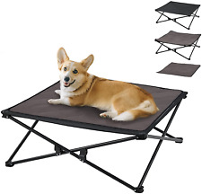 New listing KingCamp Medium Dog Bed Portable Elevated Dog Bed Breathable Washable Mesh Mat