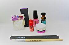 MIA SECRET Pink Builder Gel Kit, Primer, Glue, Top Coat, Emery Block, Tips