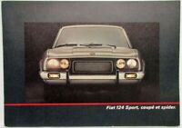 1970-1977 Fiat 124 Sport Coupe and Spider Sales Folder - French Text