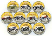 Somaliland 2019 Motorbike Set UNC 100 Years of Motor Bicycle Colorized Coins