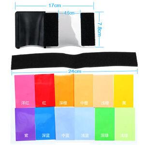 12pcs Diffuser Lighting Gel Color Card Correct Pop Up Filter for Speedlite
