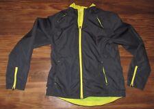 Danskin Now Women's Windbreaker Jacket, Net Lining, Gray,  Size M (8-10), VGUC