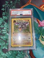 1999 Pokemon Fossil 1st Edition Holo Aerodactyl #1 PSA 7 NM
