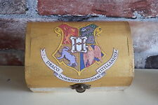 "Harry Potter inspired Hogwarts trinket box ""Aged"" book pages. Gold finish"