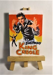 King Creole Movie Poster 1958 ACEO Original PAINTING by Ray Dicken