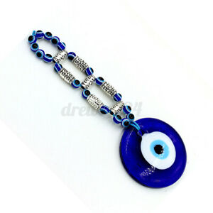Blue Beads Glass Greek Evil Eye Protection Turkish Wall Hanging Amulet Pendant
