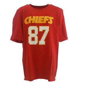 Kansas City Chiefs Travis Kelce Official NFL Team Kids Youth Size T-Shirt New