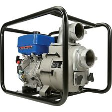 """Portable WATER TRASH PUMP - 4"""" In and Out - 1.5"""" Solids - 458 GPM - 14 HP - Gas"""