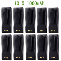 10 ×7.2V 1000mAh Battery Pack For Motorola Two-Way Radio CP040 CP140 CP150 CP180