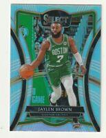 2019-20 Panini Select Premier Level Prizm Silver Jaylen Brown Celtics #180 SP