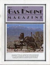 Gas Engine Magazine Volume 26 No. 11 November 1991 Hit and Miss