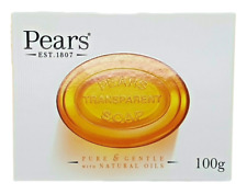 Pears Transparent Soap Pure & Gentle with Natural Oils - 100g Bar Boxed