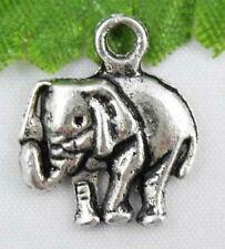 Free Ship 30Pcs Tibetan Silver(Lead-Free)Cute elephant Charms Pendants 16x14mm