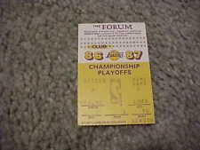 1986 Los Angeles Lakers v San Antonio Spurs 1st Round Playoff Basketball Ticket
