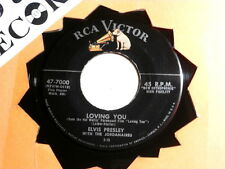 ELVIS PRESLEY~LOVING YOU~WITH LINES~TEDDY BEAR~RCA~~POP~ ROCKABILLY 45
