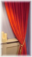 "Stunning Scarlet Red Velvet Thermal Lined Door Curtain  Up To 120"" L . MTM"
