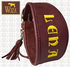 WOZA Premium Windhundhalsband Vollleder Lederhalsband Soft Rindnappa Wz81097