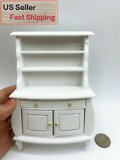 1:12 Dollhouse White Furniture Showcase Cabinet kitchen Dining Room Accessory
