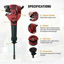 2 Stroke Gasoline Demolition JackHammer Gas Breaker Punch Drill Single Cylinder