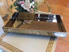 Marmor Design Spiegel Tablett Luxus Serviertablett Jugendstil Optik Hochwertig