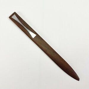 Vtg MCM Hans Hansen Denmark Letter Opener Paper Knife Rosewood Silver Inlay