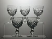 LEAD CRYSTAL CUT GLASS SHERRY PORT GLASSES SET OF 5