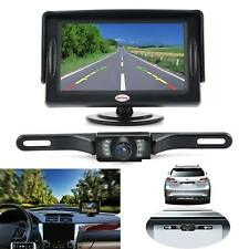 "Car Backup Rear Camera Kit Universal Wired Waterproof LCD Monitor 4.3"""