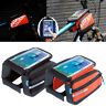 """Bike Bicycle Front Tube Bag Frame Pannier Touchscreen Pouch For Big Phone 5.7"""""""