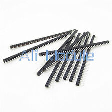 10PCS Strip Tin PCB Female IC Breakable 40pin Single Row Round Header Socket AM